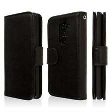 EMPIRE KLIX Genuine Leather Wallet Case for LG G2 - Textured Black