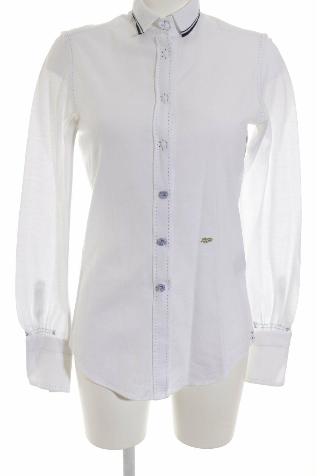 Le sarte pettegole manica lunga Camicia-Bianco-Blu Camicia-Bianco-Blu Camicia-Bianco-Blu Scuro Casual-look da donna tg. de 40 730d88