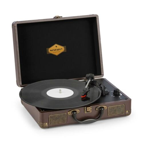 (B-WARE) Kofferplattenspieler Retro Vinyl Stereolautsprecher Turntable
