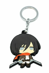 Details About Attack On Titan Cosplay Costume Accessory Cute Mikasa Ackerman Key Ring V1