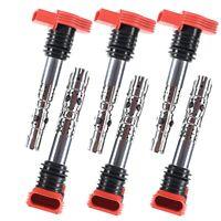 6 Ignition Coils Pack For Audi A4 Quattro A6 Quattro 2002 2003 2004 2005 06 3.0l