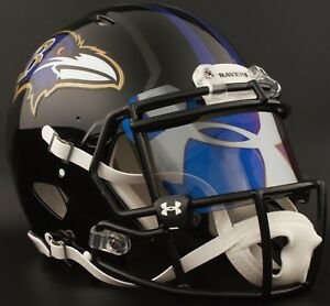 5b0a9dfb857 Image is loading CUSTOM-BALTIMORE-RAVENS-NFL-Riddell-Speed-AUTHENTIC -Football-