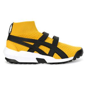 ASICS Onitsuka Tiger AP Knit Trainer Tiger Yellow/Black Shoes 1183A418.750 NEW
