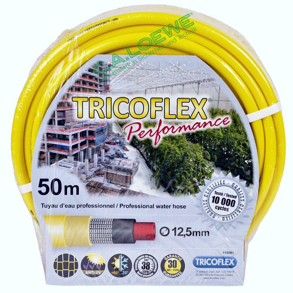 TUBO per acqua Tricoflex Performance giallo, 1 2  = 12,5mm ruolo à 50m tubo da giardino
