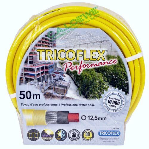 """Wasserschlauch Tricoflex Performance gelb,1//2/""""=12,5mm Rolle à 50m Gartenschlauch"""