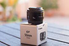 Canon EF 50mm f/1.8 II + caja + tapas + instrucciones