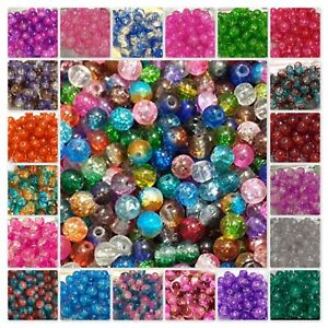 BUY-3-GET-3-FREE-400x4mm-200x6mm-100x8mm-50x10mm-Crackle-Glass-Beads-UK-SELLER