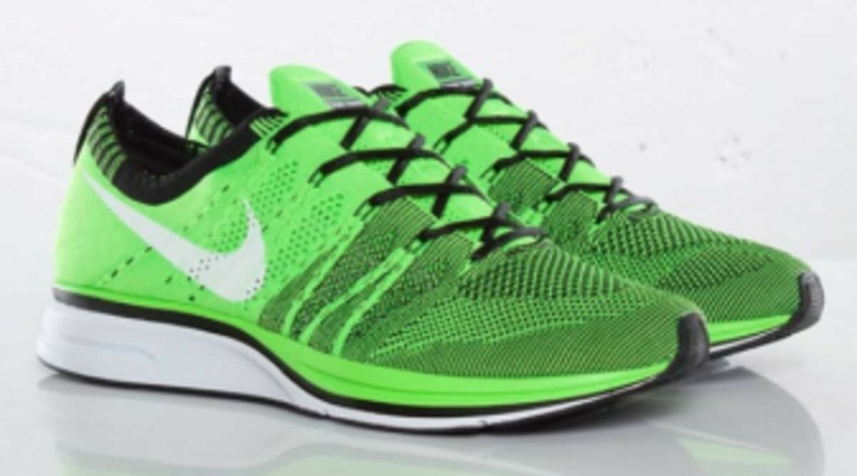 Nike flyknit trainer Uomo 12 electric verde 532984-301 ds