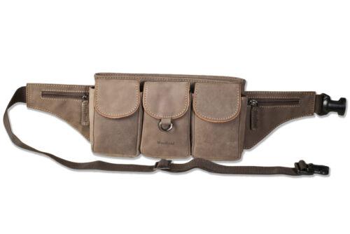 Sehr Woodland® Gürteltasche Leder Mit Ausstattung Dunkelbraun Große Voll In RxxUdw