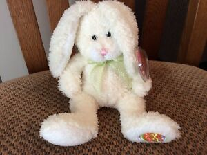 """Ty Beanie Baby """"HOPPILY"""" the Yellow Bunny MWMT 2006"""