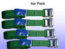 4er Pack Spanngurt, Zurrgurt mit Klemmschloss Grün 35 mm 600 daN L= 2 m