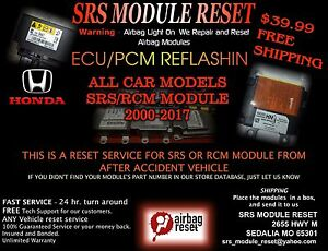 Toyota SRS Airbag Module Reset Clear Crash /& Data Hard Codes 89170 MAIL IN