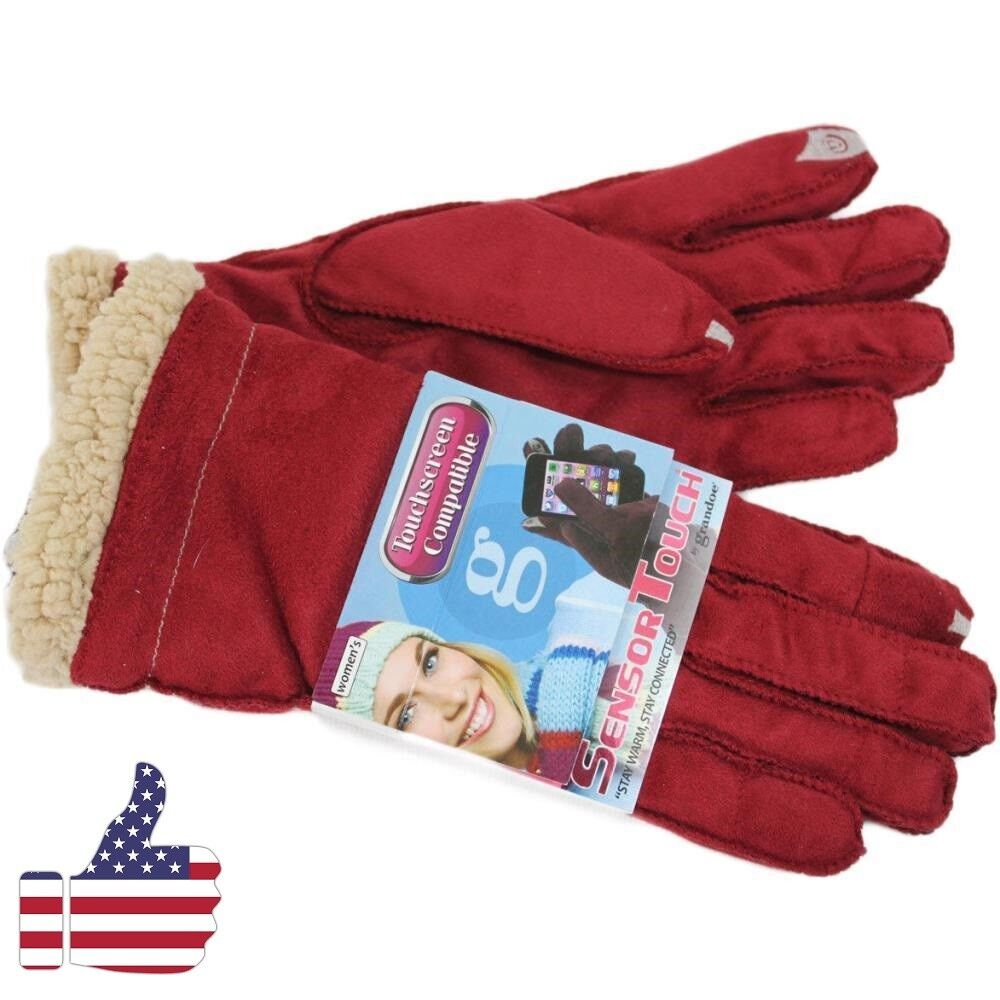 NEW Winter Warm Thick Soft Cashmere Touch Screen Fleece Gloves For Women Ladies