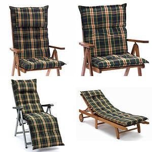 luxus auflagen f r hochlehner niederlehner sessel relax liegen b nke gr n blau ebay. Black Bedroom Furniture Sets. Home Design Ideas