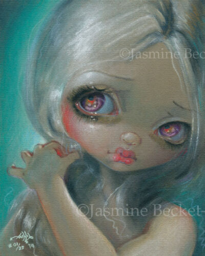 Wistful Moment pastel Jasmine Becket-Griffith CANVAS PRINT big eye lowbrow art