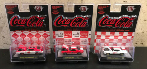 M2 Machines Coca Cola Hobby ExclusiveCamaro ZL1//Mustang GT350R//Dodge Daytona