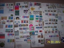 * 100 FDCs - First Day Covers - Excellent 4 used Commemoratives / FDC collector