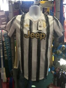 Adidas Juventus Home 2020-21 White Black Gold Soccer Jersey Size S Women's Only