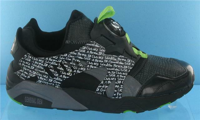 RARE PUMA DISC BLAZER GRAFFITI MENS TRAINERS BLACK/GREEN/WHITE UK SIZE 8 Cheap women's shoes women's shoes
