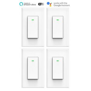 smart wifi light wall switch works with alexa google home ifttt smart life 4pack 795971431464 ebay. Black Bedroom Furniture Sets. Home Design Ideas
