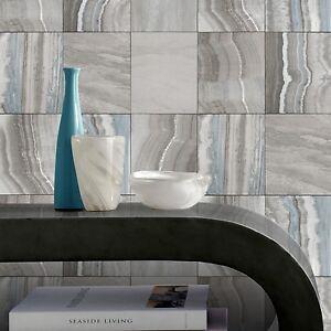 Wanddekoration blaugrün und Grau Marmor Fliesen Tapete Küche ...