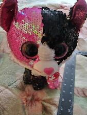 "Ty FLIPPABLES ~ MALIBU the Cat ~ Changing Sequins Medium 9/"" Beanie Boos NEW"