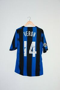 🔥2004/05 VERON match worn shirt Inter Milan retro vintage camiseta trikot