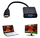 HDMI Male to VGA Female Video Converter Adapter 1080P Cable Cord For PC DVD HD