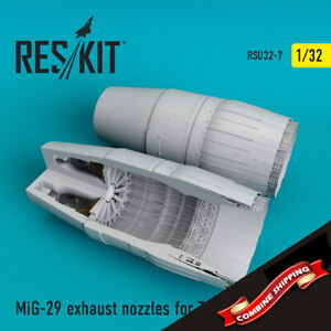 ResKit RSU32-0007 MiG-29 exhaust nozzles for Trumpeter kit Upgrade set 1/32