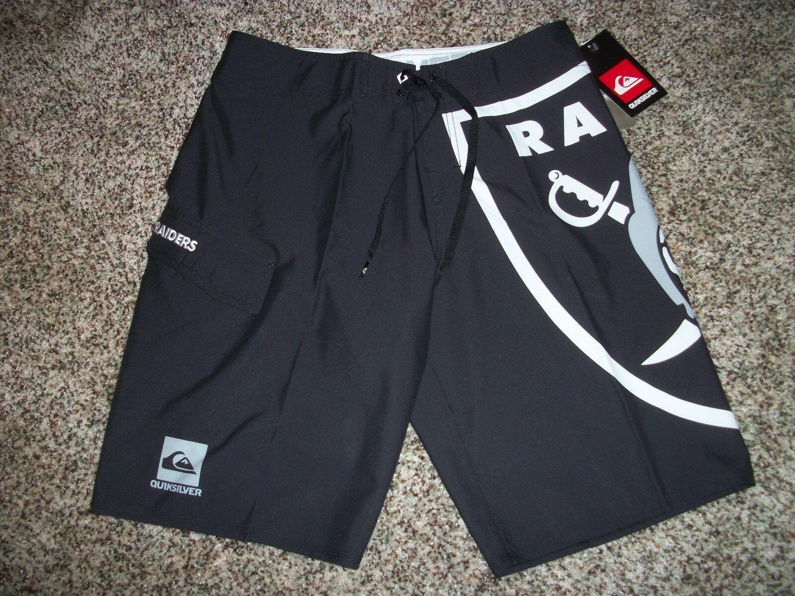 c2381bc90da Mens Quiksilver Oakland Raiders Boardshorts Board Drawstring Small ...