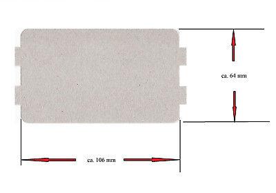 Hohlleiterabdeckung Mikrowelle 10,7cm x 6,4 cm Glimmerscheibe
