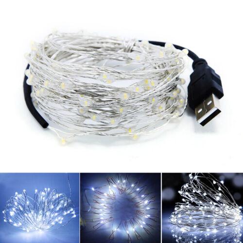 10M USB LED Lichterkette Wasserdichte Kupferkabelschnur Outdoor Lichterketten A\