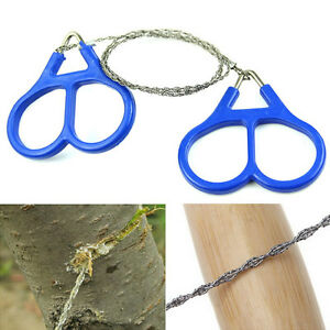 1Pc stainless steel wire saw outdoor camping emergency survival gear tools LS