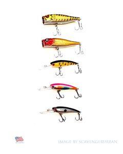 5-Fishing-Lures-USA-Top-Water-Popper-Crankbait-dur-articule-bass