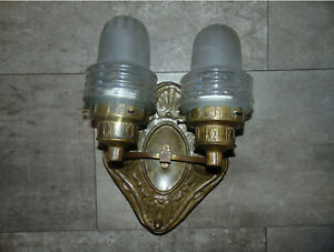 Art-Nouveau-double-brass-wall-lamp
