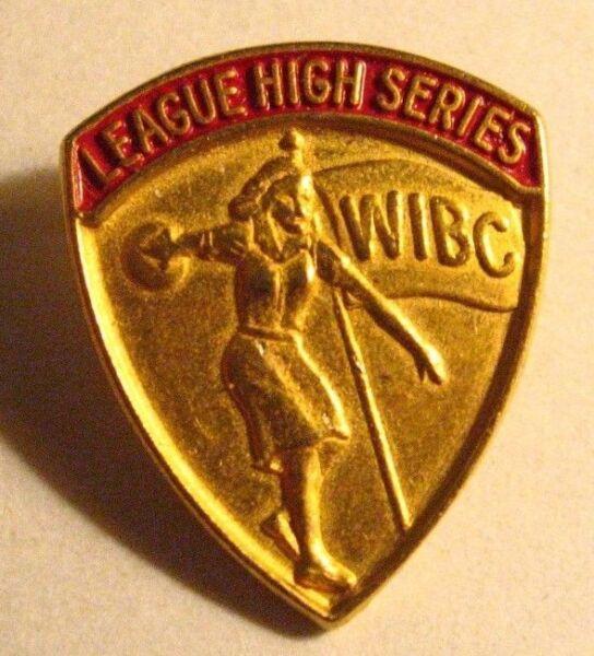Wibc Campionato Alta Serie Pin - Vintage Donna Internazionale Bowling Congresso