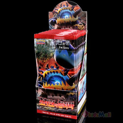 Pokemon Card Crimson Invasion Ultradimensional Beasts 30 Booster Packs Korean