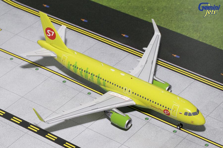 Gemini jets s7 airlines sibirien airbus a320 (s)  200 die-cast vp-bol g2sbi651