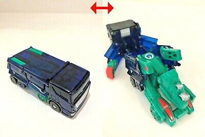 VENOSA Blue Transformable Robot Car Toy Figure TURNING MECARD 2card Free Ship