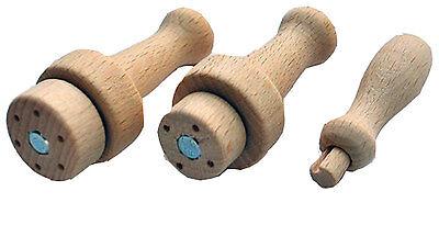 Heidifeathers 3 x Mixed Wooden Needle Felting Handles