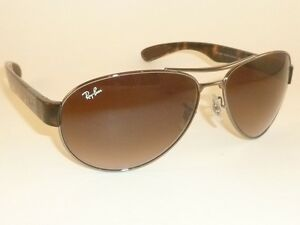 ac8977668a7 New RAY BAN Sunglasses Gunmetal Frame RB 3509 004 13 Gradient Brown ...