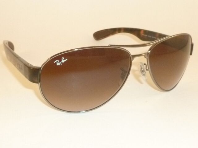 dacc547337 New RAY BAN Sunglasses Gunmetal Frame RB 3509 004 13 Gradient Brown Lenses