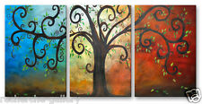 Metal Wall Art Abstract Contemporary Modern Curly Tree
