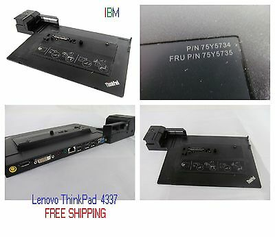 4337 With Adapter IBM Lenovo ThinkPad Mini Dock Series 3 Docking Station