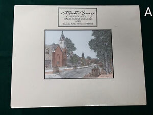 Signed-Martin-Barry-Hand-Colored-Print-Main-Street-Bel-Air-Maryland-Church-Town
