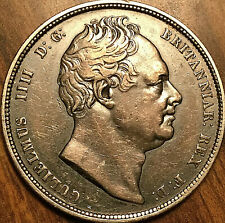 1834 UK GREAT BRITAIN SILVER HALF CROWN COIN - Fantastic toned example!
