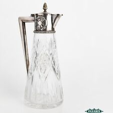 Russian Silver Cut Crystal Claret Jug Wine Decanter 1908-17