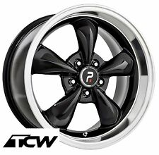 "(4) 17x9"" inch Bullitt Bullet OE Replica Black Wheels Rims fit Mustang 94-17"