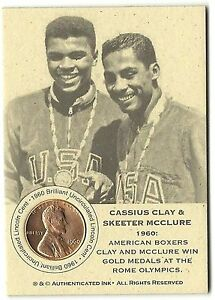 1-only-RARE-COIN-CARD-CASSIUS-CLAY-ALI-amp-SKEETER-MCCLURE-WIN-GOLD-AT-ROME
