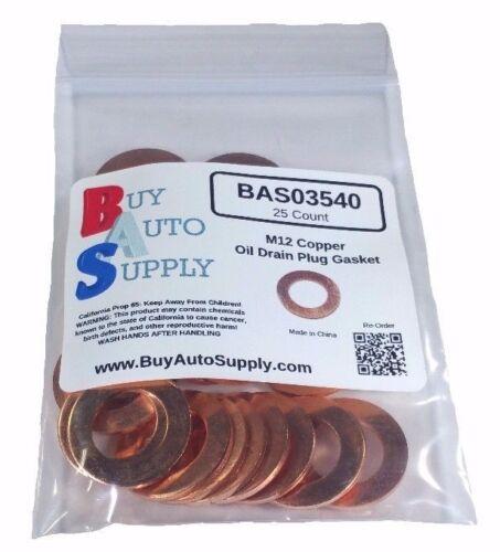 M12 Copper Oil Drain Plug Gasket Fits  Dorman 095-001 25
